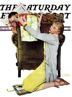 """Decorator"" Saturday Evening Post Cover, March 30,1940 by Norman Rockwell"