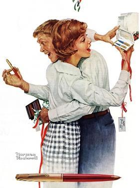 Exchanging gifts (or Fair Exchange) by Norman Rockwell