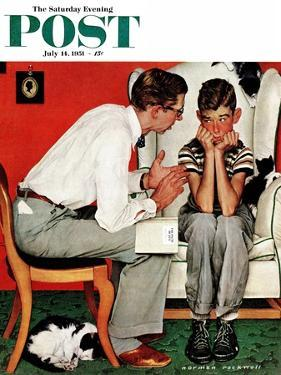 """""""Facts of Life"""" Saturday Evening Post Cover, July 14,1951 by Norman Rockwell"""
