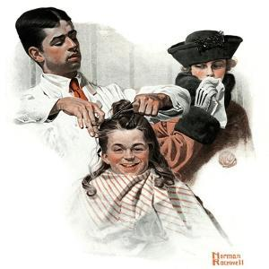 """First Haircut"", August 10,1918 by Norman Rockwell"