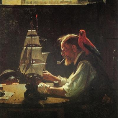 For a Good Boy (or Sea Captain Building Ship Model)