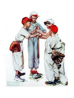 Four Sporting Boys: Baseball by Norman Rockwell