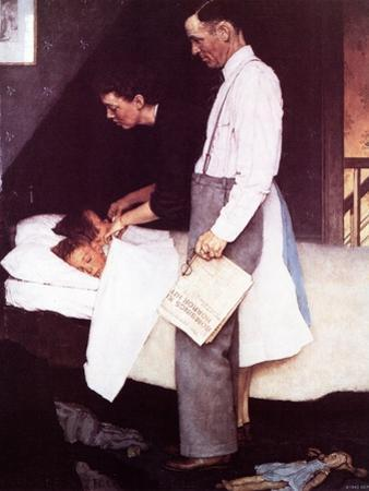"""Freedom From Fear"", March 13,1943 by Norman Rockwell"