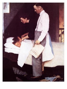 """""""Freedom From Fear"""", March 13,1943 by Norman Rockwell"""