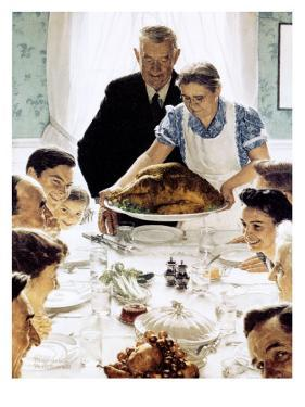 """Freedom From Want"", March 6,1943 by Norman Rockwell"