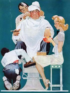 """""""Full Treatment"""", May 18,1940 by Norman Rockwell"""