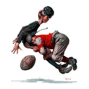 """""""Fumble"""" or """"Tackled"""", November 21,1925 by Norman Rockwell"""
