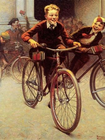 Fun on Bikes (or Boys on Bicycles) by Norman Rockwell