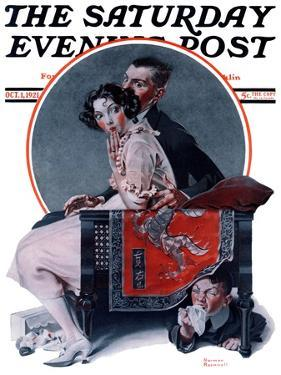 """God Bless You"" or ""Sneezing Boy"" Saturday Evening Post Cover, October 1,1921 by Norman Rockwell"