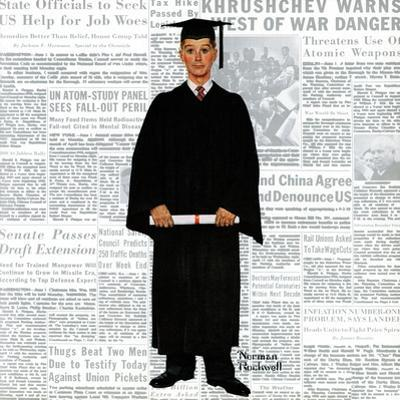 """""""Graduate"""", June 6,1959 by Norman Rockwell"""