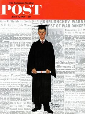 """Graduate"" Saturday Evening Post Cover, June 6,1959 by Norman Rockwell"