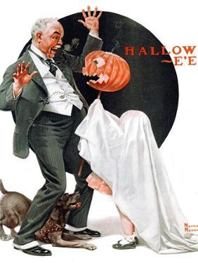 """""""Halloween"""", October 23,1920 by Norman Rockwell"""