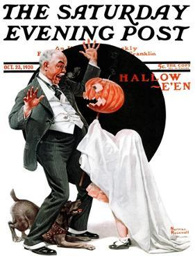 """Halloween"" Saturday Evening Post Cover, October 23,1920 by Norman Rockwell"