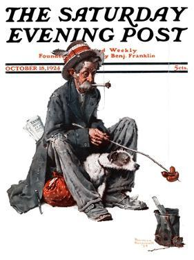"""Hobo"" Saturday Evening Post Cover, October 18,1924 by Norman Rockwell"