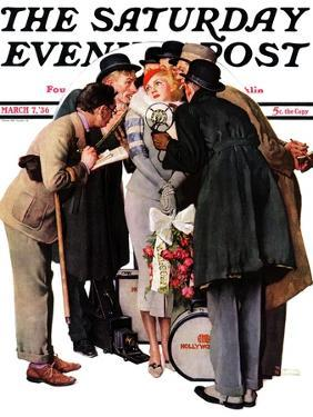 """""""Hollywood Starlet"""" Saturday Evening Post Cover, March 7,1936 by Norman Rockwell"""