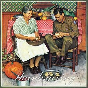 """""""Home for Thanksgiving"""", November 24,1945 by Norman Rockwell"""