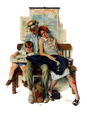 """Home from Vacation"", September 13,1930 by Norman Rockwell"