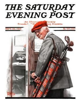 """Important Business"" Saturday Evening Post Cover, September 20,1919 by Norman Rockwell"