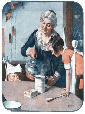 'It's So Simple' by Norman Rockwell