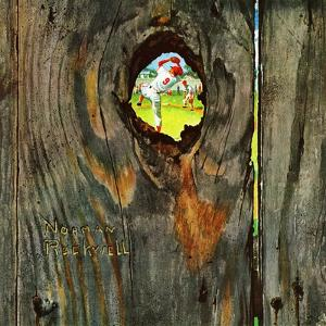 """""""Knothole Baseball"""", August 30,1958 by Norman Rockwell"""