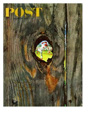 """""""Knothole Baseball"""" Saturday Evening Post Cover, August 30,1958 by Norman Rockwell"""
