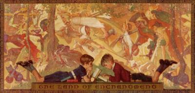 """""""Land of Enchantment"""", December 22,1934 by Norman Rockwell"""