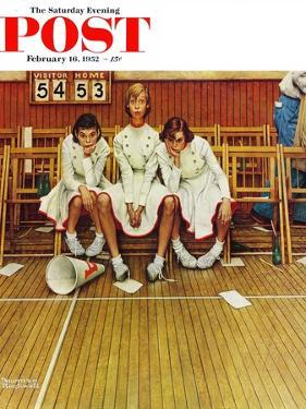 """""""Losing the Game"""" Saturday Evening Post Cover, February 16,1952 by Norman Rockwell"""