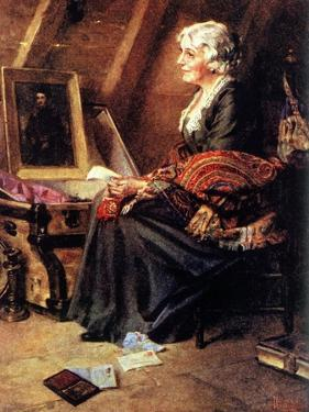 Memories (or Woman Reading Love Letters in Attic) by Norman Rockwell