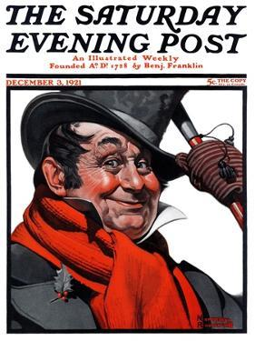 """Merrie Christmas"" Saturday Evening Post Cover, December 3,1921 by Norman Rockwell"