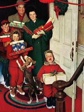 """Merry Christmas, Grandma!' by Norman Rockwell"