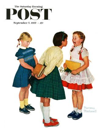 """""""Missing tooth"""" Saturday Evening Post Cover, September 7,1957 by Norman Rockwell"""