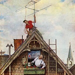 """""""New T.V. Set"""", November 5,1949 by Norman Rockwell"""
