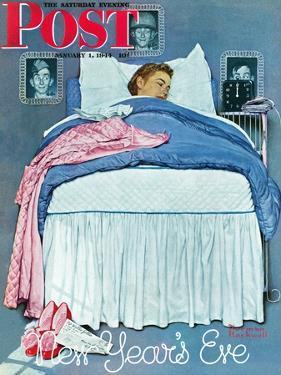 """""""New Year's Eve"""" Saturday Evening Post Cover, January 1,1944 by Norman Rockwell"""