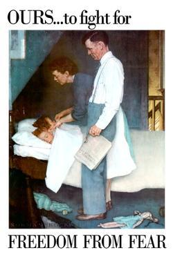 Norman Rockwell Freedom From Fear WWII War Propaganda by Norman Rockwell