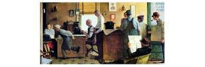 Norman Rockwell Visits a Country Editor by Norman Rockwell