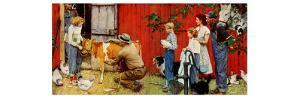 Norman Rockwell Visits a County Agent by Norman Rockwell