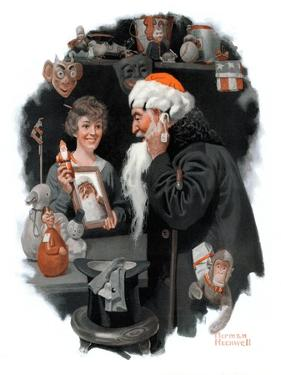 """Playing Santa"", December 9,1916 by Norman Rockwell"