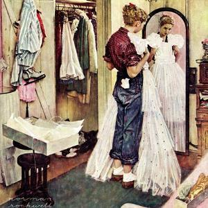 """""""Prom Dress"""", March 19,1949 by Norman Rockwell"""