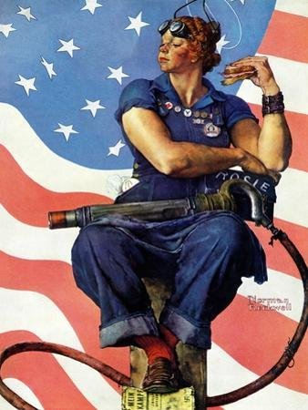 """Rosie the Riveter"", May 29,1943 by Norman Rockwell"