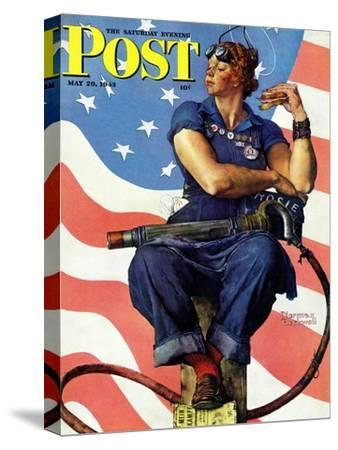 """Rosie the Riveter"" Saturday Evening Post Cover, May 29,1943 by Norman Rockwell"