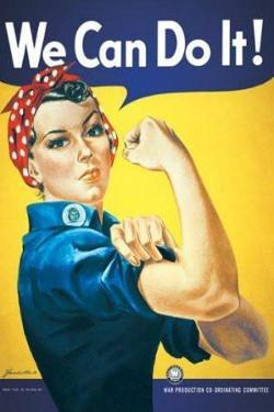 Rosie The Riveter - We Can Do It by Norman Rockwell