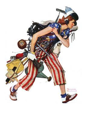 """""""Rosie to the Rescue"""", September 4,1943 by Norman Rockwell"""