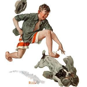 """Runaway Pants"", August 9,1919 by Norman Rockwell"