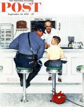 """Runaway"" Saturday Evening Post Cover, September 20,1958 by Norman Rockwell"