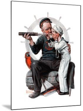 """""""Setting One's Sights"""" or """"Ship Ahoy"""", August 19,1922 by Norman Rockwell"""