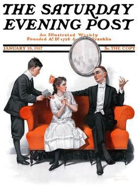 """Shall We Dance?"" Saturday Evening Post Cover, January 13,1917 by Norman Rockwell"