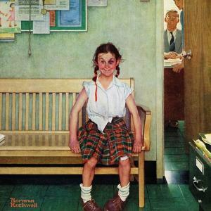 """""""Shiner"""" or """"Outside the Principal's Office"""", May 23,1953 by Norman Rockwell"""