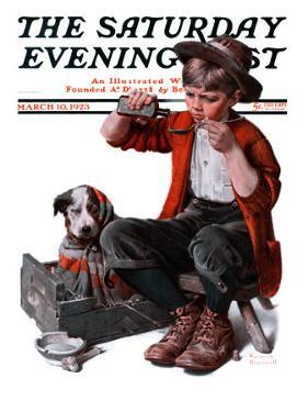 """Sick Puppy"" Saturday Evening Post Cover, March 10,1923 by Norman Rockwell"