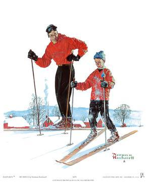 Ski Skills by Norman Rockwell