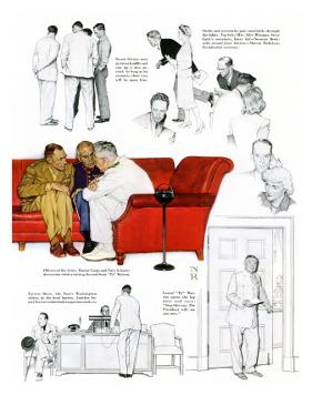 """So You Want to See the President"" C, November 13,1943 by Norman Rockwell"